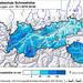 LWD-Tirol výška sněhu