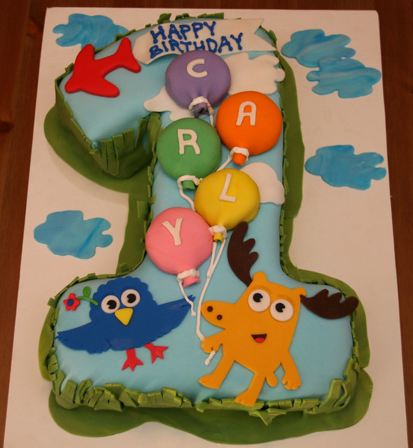 Moose & Zee First Birthday Cake - Carly