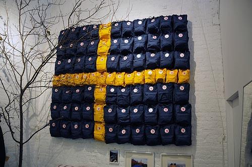 Fjällräven Store New York | The Swedish flag made of Kånken | Flickr
