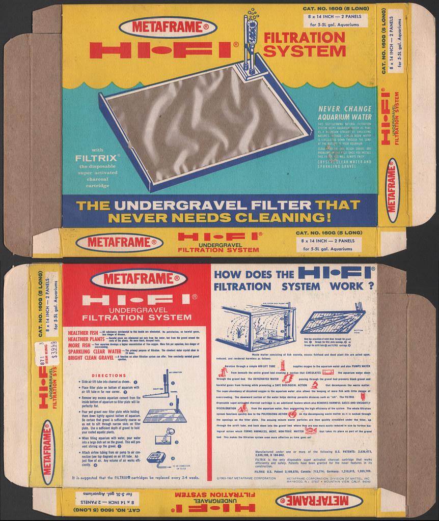 Metaframe - Hi-Fi Undergravel Filtration System box - 1970… | Flickr