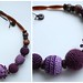 Crocheted violet mother-necklace