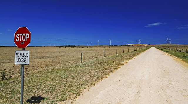 Codrington Wind Farm : No Public Access