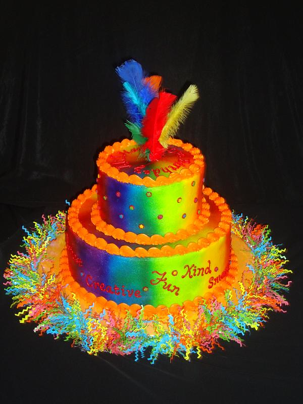 Fabulous Tie Dye Birthday Cake Stacked Birthday Cake In Buttercream Flickr Personalised Birthday Cards Paralily Jamesorg