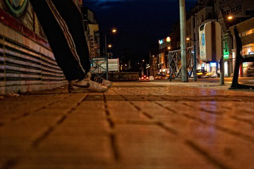 france bus night bench french geotagged for garbage shoes waiting nightshot stlouis sneakers nike bin busstop alsace sascha wait rueb nohdr insashi rüb allrightsreserved©sascharueb sash´skitchenstudiophotography