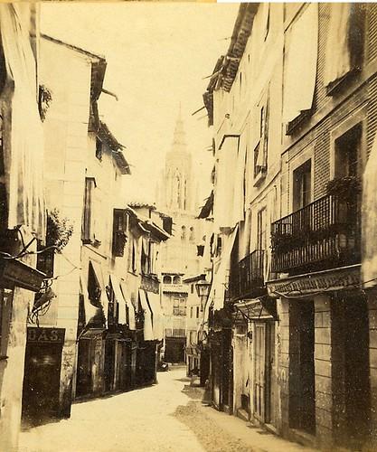 Calle ancha en 1863 por E. Làmy
