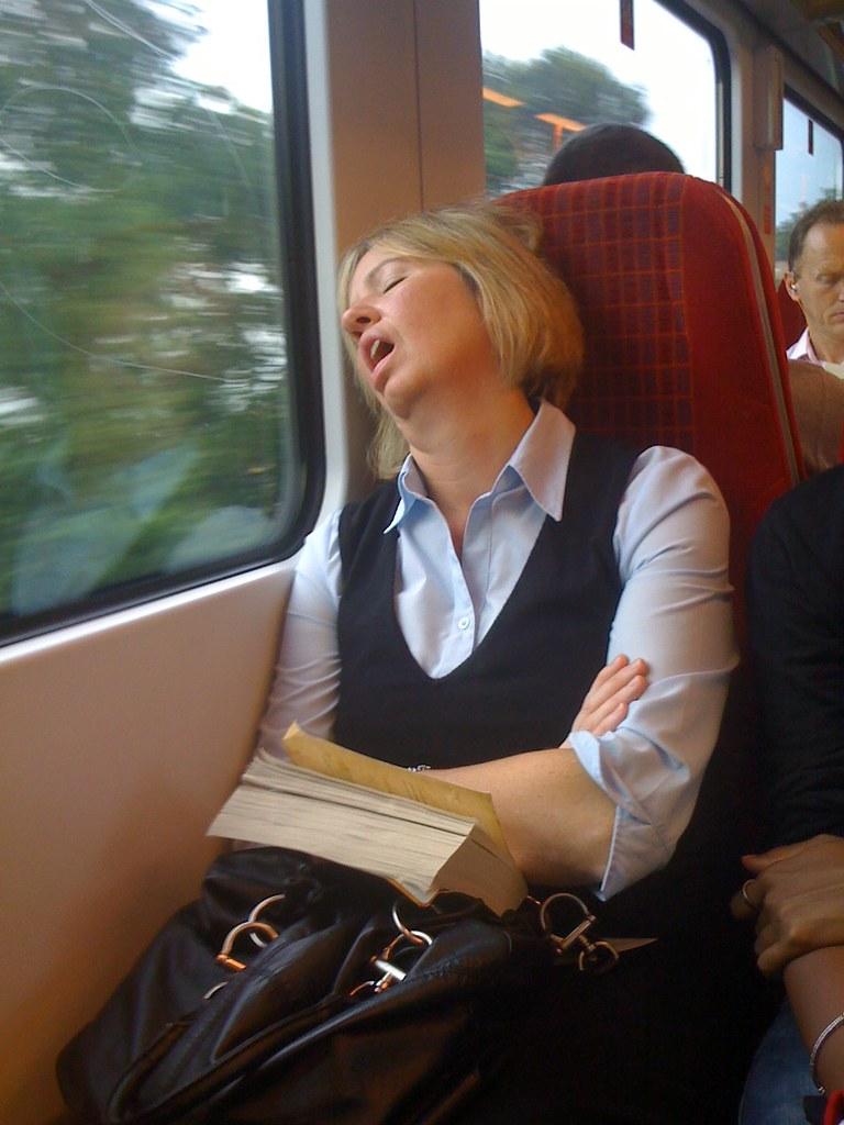 Snoring on Train