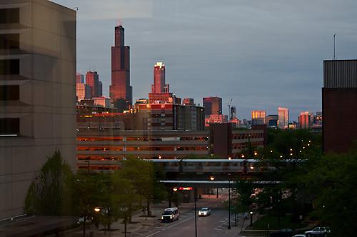chicago nikon cityscape cta sears el uic banias d90 willistower