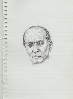 Zavier Ellis 'Mad Nazi Priest Drawing # 2', 2014 Pencil on paper 21x14.8cm