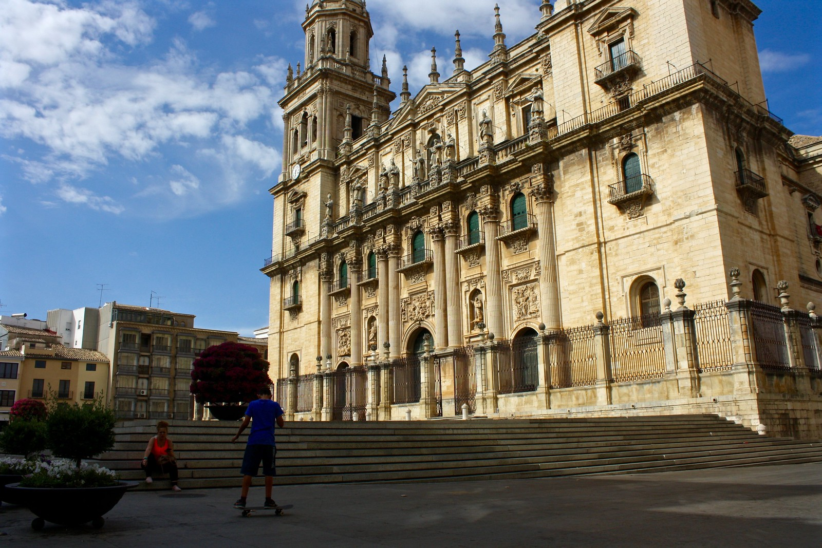 Plaza in front of Jaén cathedral, Spain