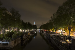 Prinsengracht, Amsterdam Canals at Night