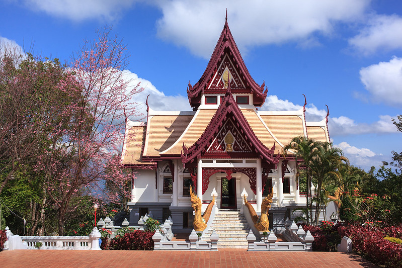 Sinakarintra Stit Mahasantikhiri Pagoda, Mae Salong, Thailand.