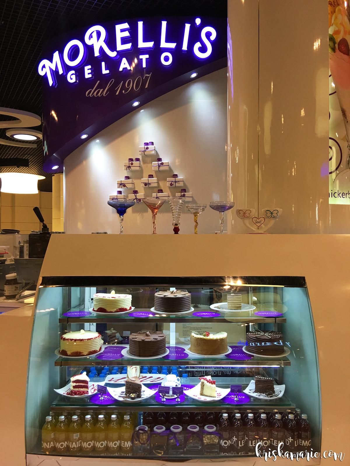 Birthday Desserts at Morelli's Gelato