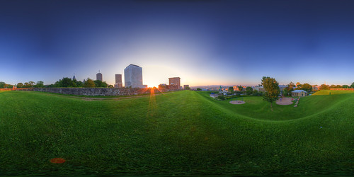 Green Grass inside Old Quebec City   by haban hero
