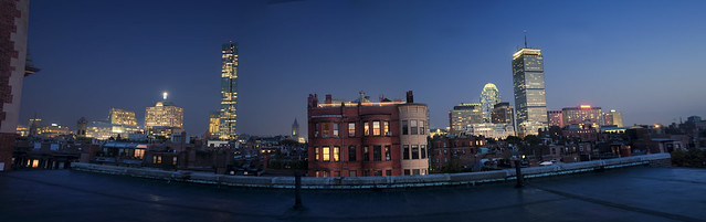 Boston Back Bay from a Roof