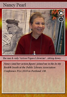 Nancy Pearl Librarian Trading Card