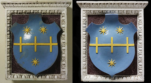 Coat of arms of the Della Rena family - Della Robbia workshop