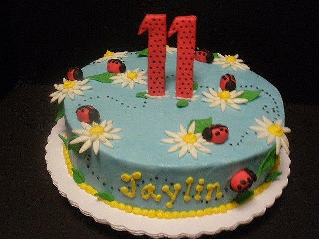 Excellent Ladybug Birthday Cake A Ladybug Birthday Cake For An 11Th Flickr Personalised Birthday Cards Veneteletsinfo