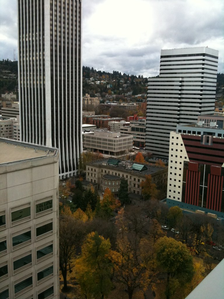 View from floor 16 of the courthouse