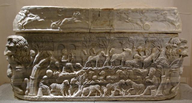 Sarcòfag bucòlic, Museo Nazionale Romano nelle Terme di Diocleziano, Roma