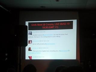 #geekmeetsthlm twitter live feed