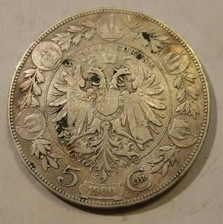 AUSTRIA-HUNGARY, FRANZ-JOSEF I 1900---5 CORONA a