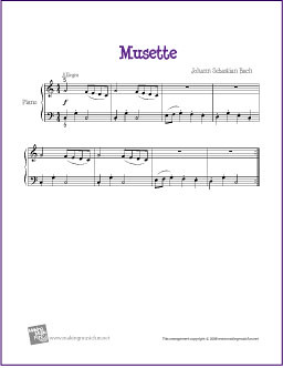Musette (Bach) | Free Sheet Music for Beginner Piano | Flickr
