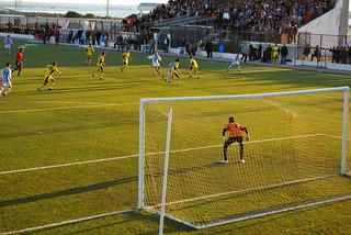Sfax Goalie at the Ready   by goingslowly