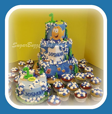 Excellent Bubble Guppies Birthday Cake Carol Flickr Birthday Cards Printable Trancafe Filternl