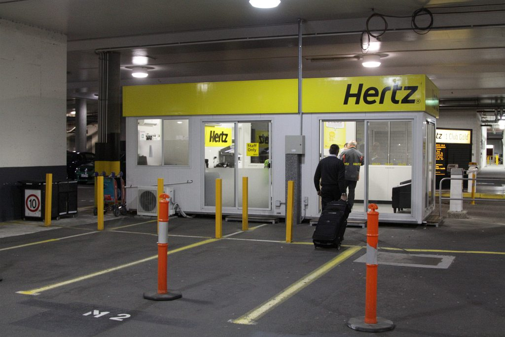 Hertz car rental office at the airport