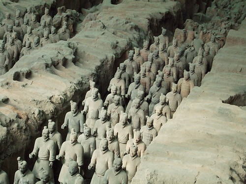 Terracotta Army inside the Qin Shi Huangdi Mausoleum | Flickr