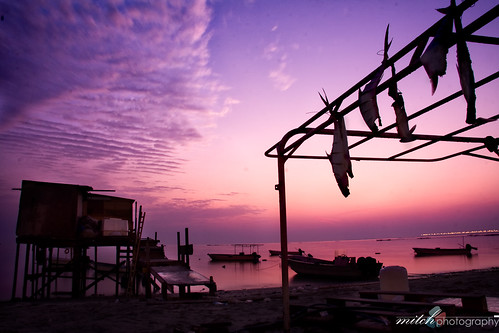 sea fish sunrise canon bahrain long exposure shanty dried manama muharraq 40d
