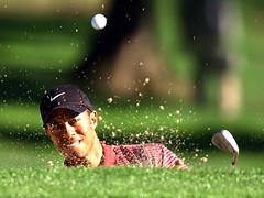 tiger-woods-out-of-bunker | by Mike Boon