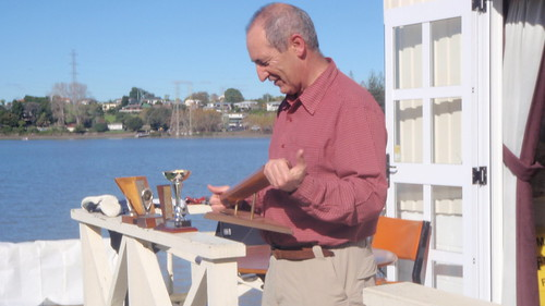 Will Perry ready to present 2009 Capsize Trophy | by PLSC (Panmure Lagoon Sailing Club)