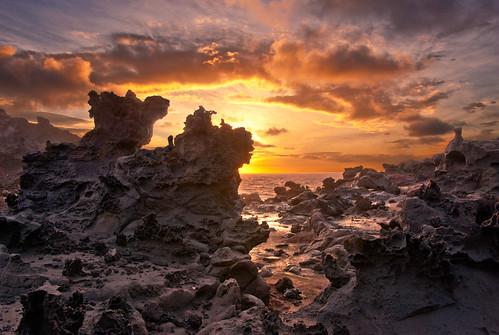 sunrise hawaii lava maui pacificocean lavarock westmaui surreallandscape lavagarden nikond700 nikon28300mm