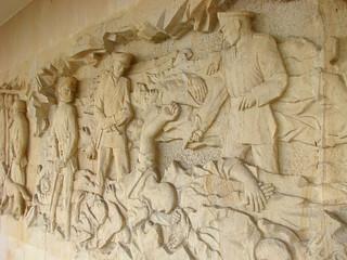 Lidice Memorial - Bas-Relief of Gendercidal Massacre of Males - Near Prague, Czech Republic - 02