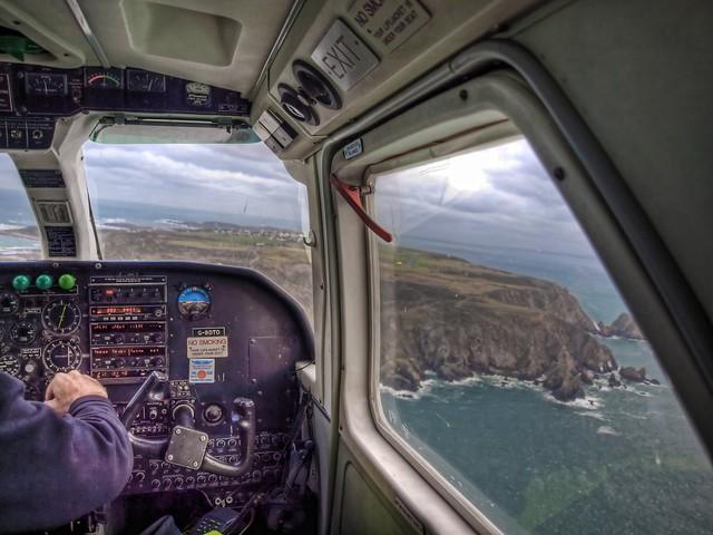 Long Final with a crosswind - Alderney