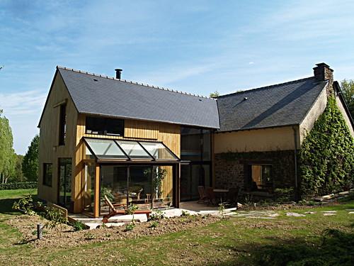 Extension en bois d'une longère pierre et terre_064   by Michèle Turbin