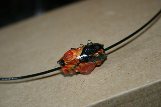 Faux Lampwork bead made of Kato polyclay | by X by Leina Neima