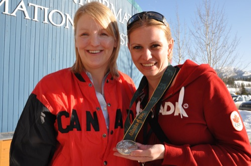 Me and Christine Larsen and her silver medal | by mariskar