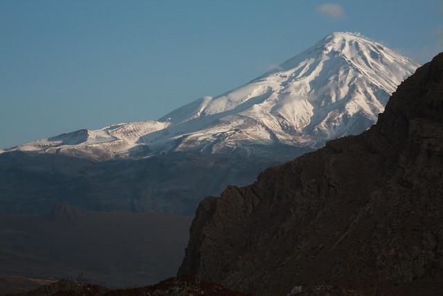 the peak of Mount Damavand