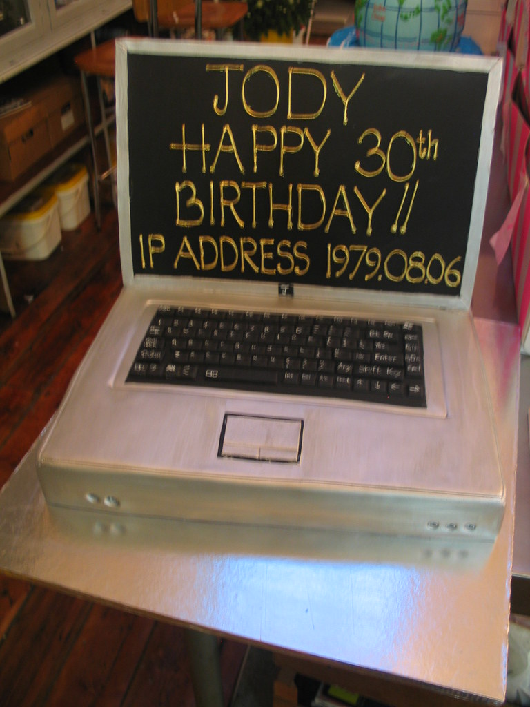 Outstanding Laptop Computer Birthday Cake Laptop Computer Birthday Cak Flickr Funny Birthday Cards Online Barepcheapnameinfo