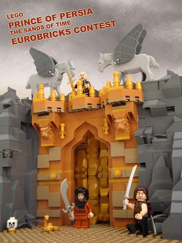 LEGO Prince of Persia MOC Eurobricks Contest Poster Art