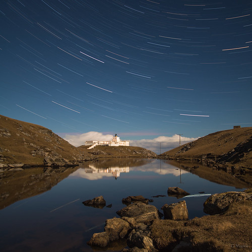 Strathy Lighthouse Star Trails | by Gordon Mackie