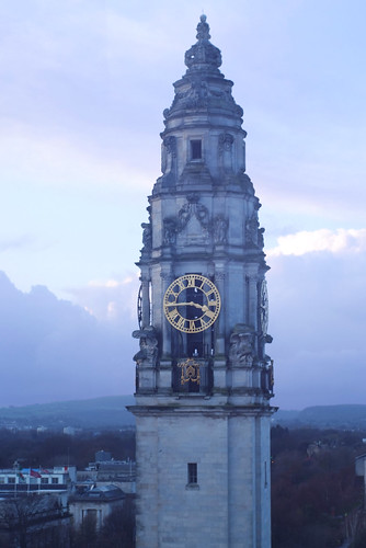 Cardiff City Hall Clock Tower