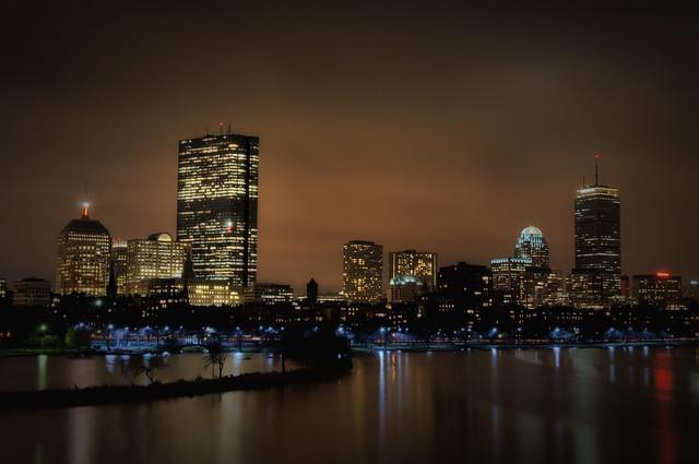 Boston Back Bay at Night