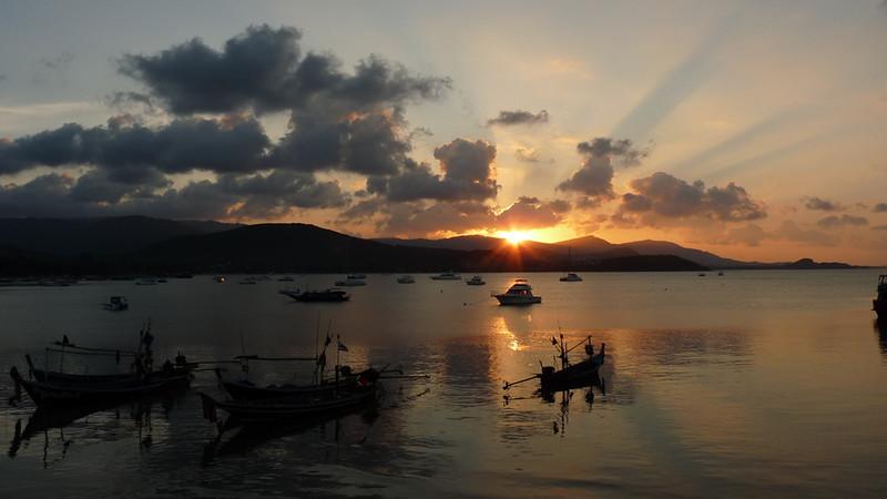 Koh Samui Sunset @ Bangak pier- コサムイ 夕焼け1