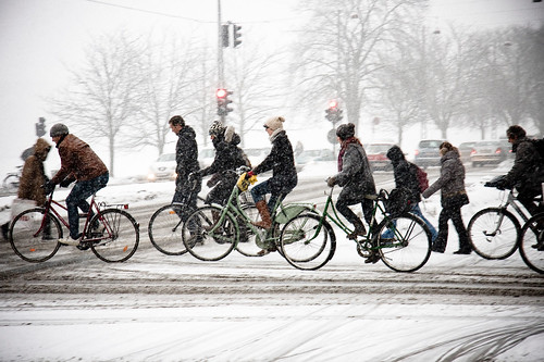 Bicycle Rush Hour Copenhagen - Winter | by Mikael Colville-Andersen
