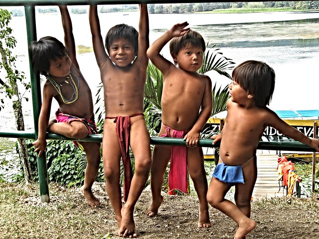 Embera children at play, Panama