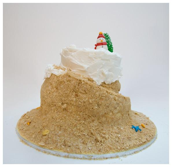 Snow/beach cake