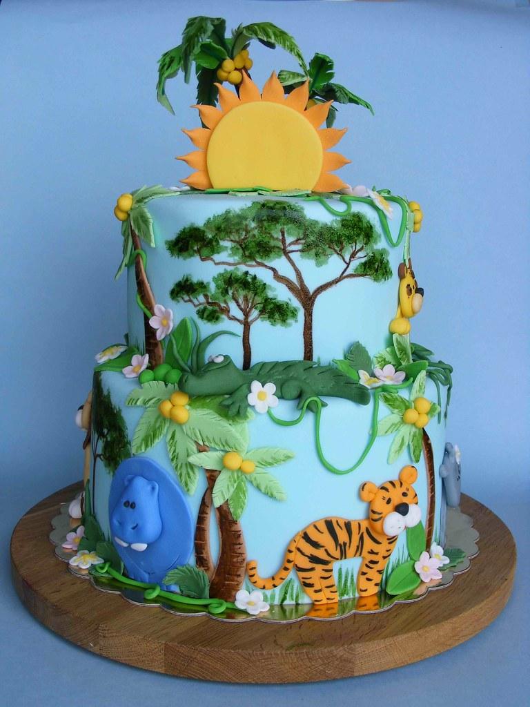 Jungle Cake Happy 9th Bday Viara Историята на
